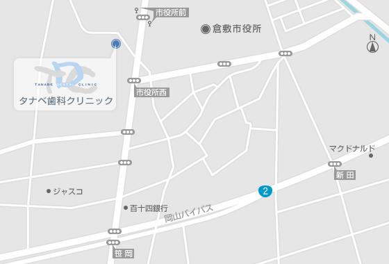 岡山県倉敷市西中新田552-4の地図